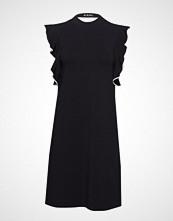 Karl Lagerfeld Shortsleeve Ruffle Dress Kort Kjole Svart KARL LAGERFELD