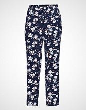 Banana Republic Avery Feb Blue Floral Pant Bukser Med Rette Ben Blå BANANA REPUBLIC