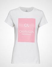 Calvin Klein Performance Short Sleeve Tee, 00 T-shirts & Tops Short-sleeved Hvit CALVIN KLEIN PERFORMANCE