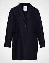 Violeta by Mango Wool-Blend Classic Coat Ullfrakk Frakk Blå VIOLETA BY MANGO