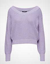 Gina Tricot Maja Knitted Sweater Strikket Genser Lilla GINA TRICOT