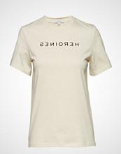Dagmar Rachel Heroines T-shirts & Tops Short-sleeved Creme DAGMAR