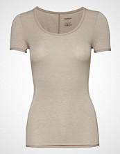 Schiesser Shirt 1/2 T-shirts & Tops Short-sleeved Beige SCHIESSER