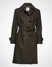 Mango Double-Breasted Wool Coat Ullfrakk Frakk Brun MANGO