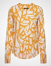 Bruuns Bazaar Grid Ofelia Shirt Bluse Langermet Gul BRUUNS BAZAAR