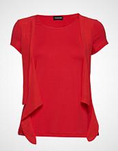 Taifun T-Shirt Short-Sleeve Bluse Kortermet Rød TAIFUN