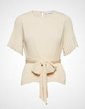 Cathrine Hammel Miami Tee-Shirt Bluse Kortermet Creme CATHRINE HAMMEL