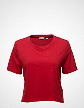 Wrangler Crop Tee T-shirts & Tops Short-sleeved Rød WRANGLER