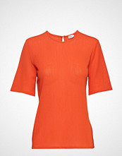 Filippa K Mesh Tee T-shirts & Tops Short-sleeved Oransje FILIPPA K