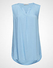 Betty Barclay Blouse Long Without Sleeve Bluse Ermeløs Blå BETTY BARCLAY