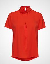 Esprit Collection Blouses Woven Bluse Kortermet Rød ESPRIT COLLECTION