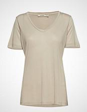 Whyred Vanya V-Neck T-shirts & Tops Short-sleeved Beige WHYRED