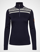 Dale of Norway Cortina Basic Feminine Sweater Høyhalset Pologenser Blå DALE OF NORWAY