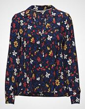 Tommy Jeans Tjw Essential Open Neck Blouse Bluse Langermet Blå TOMMY JEANS
