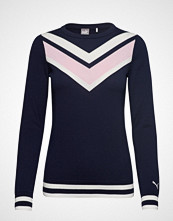 Puma Golf W Chevron Sweater Strikket Genser Blå PUMA GOLF