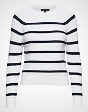 Banana Republic Rounded Cotton Crew Stripes Strikket Genser Hvit BANANA REPUBLIC