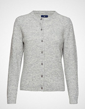 Gant O1. Woolen Hairy Cardigan Strikkegenser Cardigan Grå GANT
