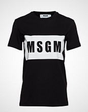 MSGM Msgm Panel T-Shirt T-shirts & Tops Short-sleeved Svart MSGM