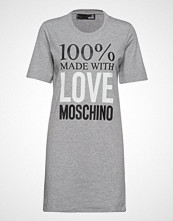Love Moschino Love Moschino-Dress Knelang Kjole Grå LOVE MOSCHINO
