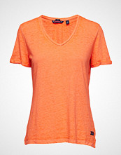 Superdry Burnout Vee Tee T-shirts & Tops Short-sleeved Oransje SUPERDRY