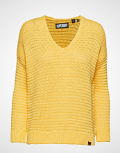 Superdry Eloise Textured Open Knit Strikket Genser Gul SUPERDRY