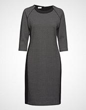Gerry Weber Dress Knitted Fabric Knelang Kjole Svart GERRY WEBER