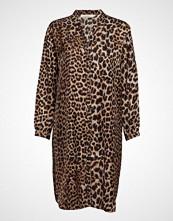 Rabens Saloner Jungle Print Shirt Dress Kort Kjole Brun RABENS SAL R