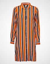Kaffe Kadolly Maxi Shirt Bluse Langermet Oransje KAFFE