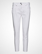GAP Tr Skinny Ankle Optic White Rh Stramme Bukser Stoffbukser Hvit GAP