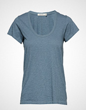 Rag & Bone U Neck Tee T-shirts & Tops Short-sleeved Blå RAG & B