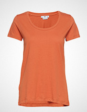 Mango Organic Cotton T-Shirt T-shirts & Tops Short-sleeved Oransje MANGO