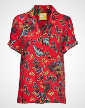 Superdry Riva Shirt Bluse Kortermet Rød SUPERDRY