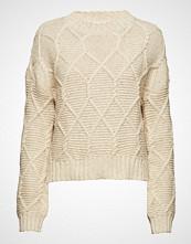 Mayla Stockholm Aria Cable Knit Sweater Strikket Genser Creme MAYLA STOCKHOLM