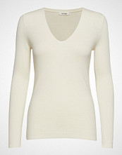 nué notes Inge V-Neck Strikket Genser Creme NUÉ NOTES