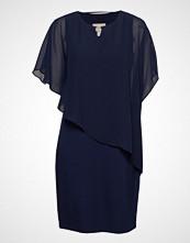 Brandtex Dress-Knitted Knelang Kjole Blå Brandtex