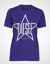 Diesel Women T-Sily-Za T-Shirt T-shirts & Tops Short-sleeved Lilla DIESEL WOMEN