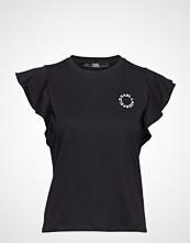 Karl Lagerfeld Ruffle Sleeve T-Shirt T-shirts & Tops Short-sleeved Svart Karl Lagerfeld