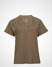 Violeta by Mango Organic Cotton T-Shirt T-shirts & Tops Short-sleeved Grønn VIOLETA BY MANGO