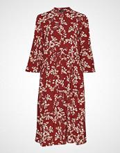 Soft Rebels Karoline Shirt Dress Knelang Kjole Rød SOFT REBELS