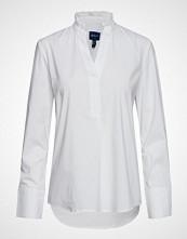 Gant D1. Tp Frill Shirt Bluse Langermet Hvit GANT
