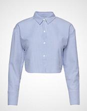 Ivyrevel Cropped Shirt Langermet Skjorte Blå IVYREVEL