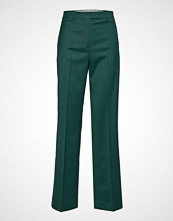 Calvin Klein Wool Twill Wide Leg, Vide Bukser Grønn CALVIN KLEIN