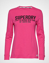 Superdry Aida Long Sleeve Top T-shirts & Tops Long-sleeved Rosa SUPERDRY