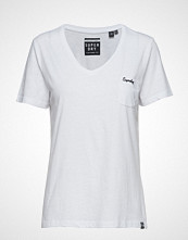 Superdry Ol Essential Vee Tee T-shirts & Tops Short-sleeved Hvit SUPERDRY