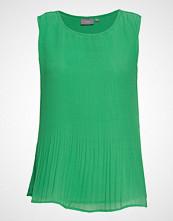 B.Young Byjencia Plisse Top - Bluse Ermeløs Grønn B.YOUNG