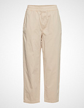 French Connection Orane Cotton Utility Jogger Bukser Med Rette Ben Beige FRENCH CONNECTION