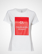 Calvin Klein Performance Short Sleeve Tee, 00 T-shirts & Tops Short-sleeved Hvit CALVIN KLEIN PERFORMANCE