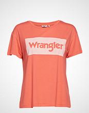 Wrangler Drape Tee T-shirts & Tops Short-sleeved Oransje WRANGLER