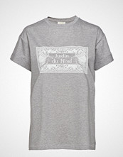 Notes du Nord Luca T-Shirt Grey Melange T-shirts & Tops Short-sleeved Grå NOTES DU NORD
