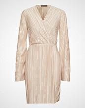 Gina Tricot Mimmi Wrap Dress Kort Kjole Beige GINA TRICOT